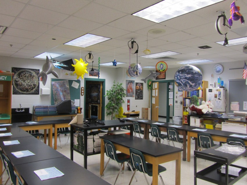 High school science lab