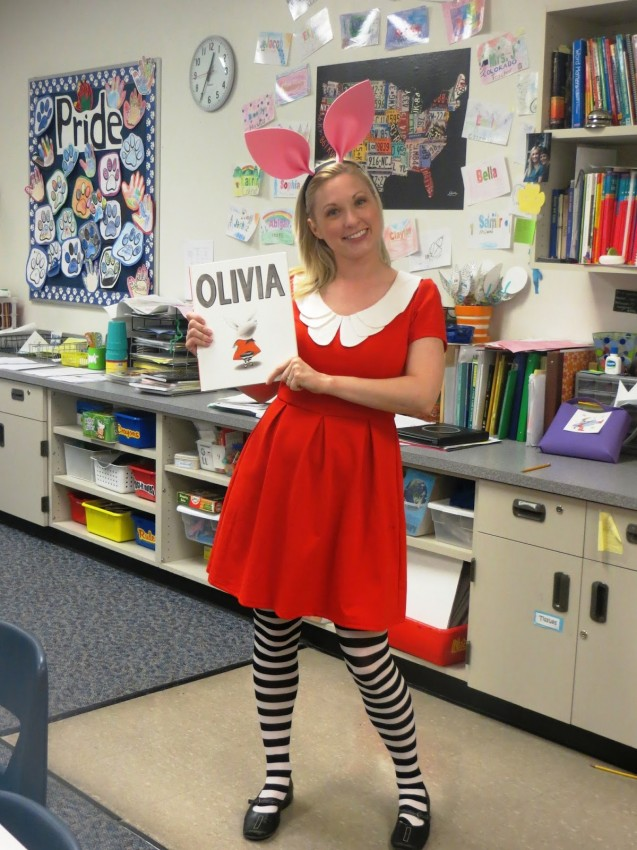 15 book character Halloween costumes for teachers: Olivia the Pig Halloween Costume