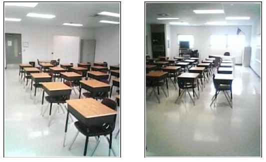 Empty classroom in new building