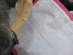The teachers at this school use a giant spreadsheet to record and assess student progress.